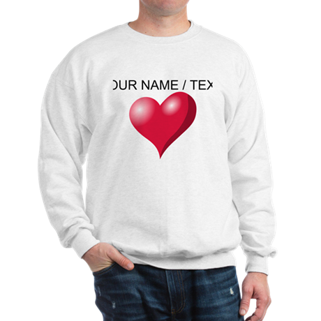 Custom Pink Heart Sweatshirt