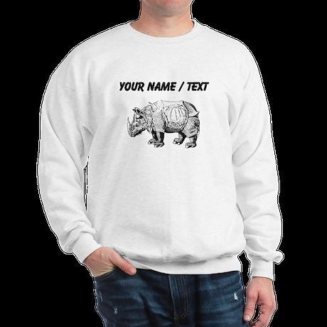 Custom Rhino Sketch Sweatshirt