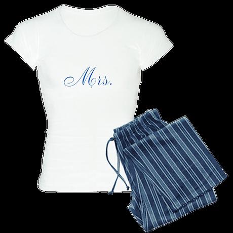 Blue Mr and Mrs Pajamas Women's Light Pajamas