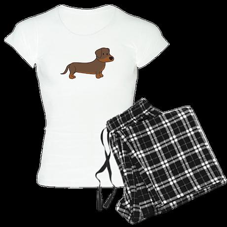 Cute Dachshund Women's Light Pajamas