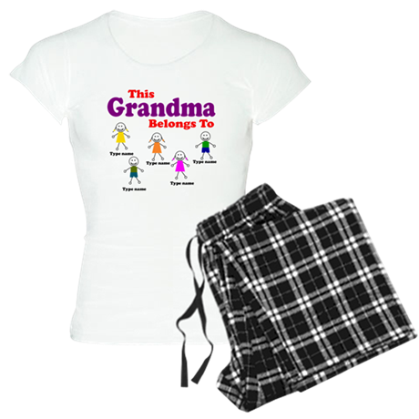 Personalized Grandma 5 kids Women's Light Pajamas