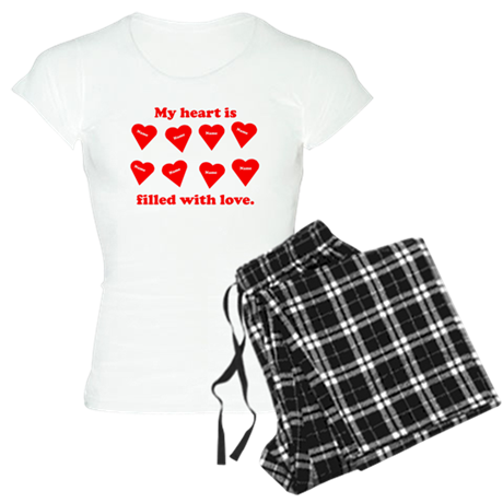 Personalized My Heart Filled Women's Light Pajamas
