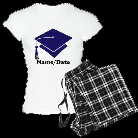 Personalized Navy Blue Graduation Women's Light Pa
