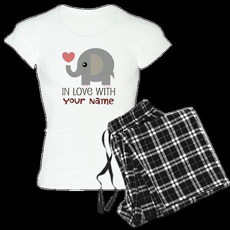 Personalized Matching Couple Women's Light Pajamas