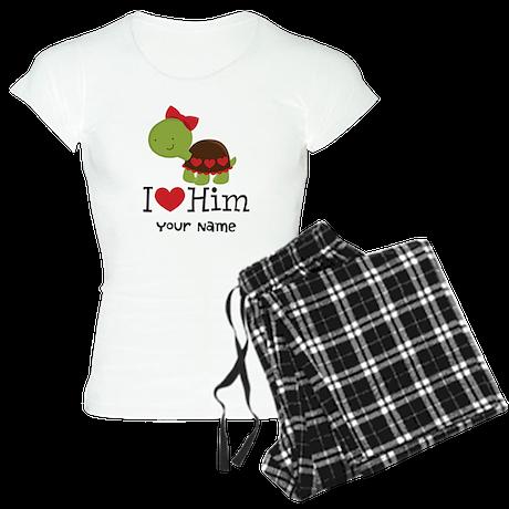 Personalized Valentine Turtle Women's Light Pajama