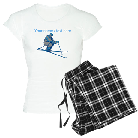 Custom Downhill Skier pajamas