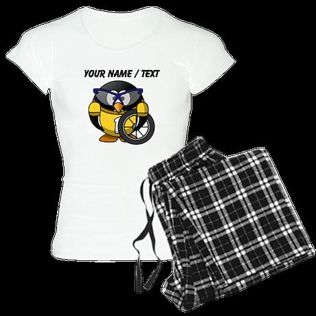 Custom Cyclist Penguin pajamas