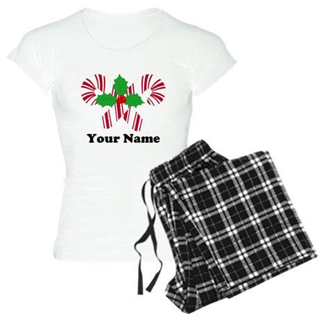 Personalized Candy Canes Women's Light Pajamas
