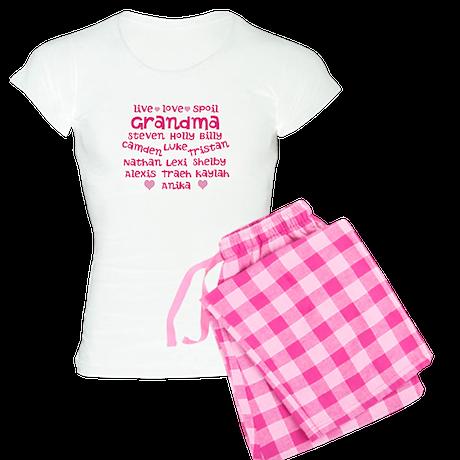 Custom grand kids Women's Light Pajamas