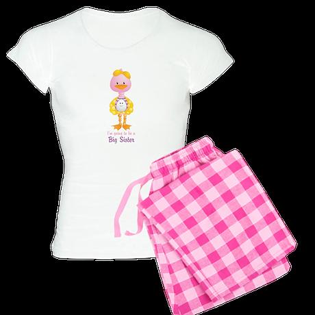 Big Sister to be -Ducky Women's Light Pajamas