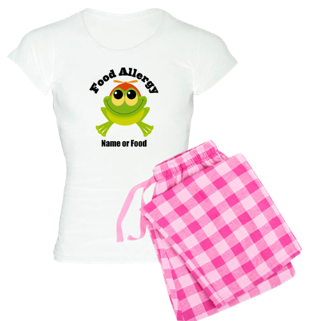 Personalized Food Allergy Frog Women's Light Pajam