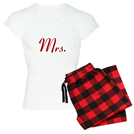 Red Mr and Mrs Pajamas Women's Light Pajamas