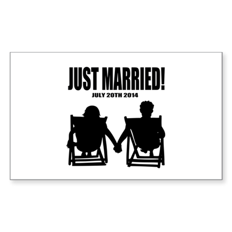 Just Married   Personalized wedding Sticker