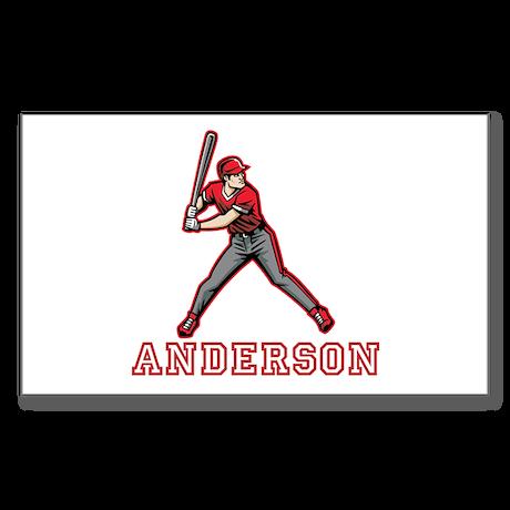 Personalized Baseball Sticker (Rectangle)