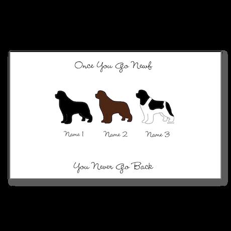 3 Newfs - Black, Brown, Landseer Sticker (Rectangl