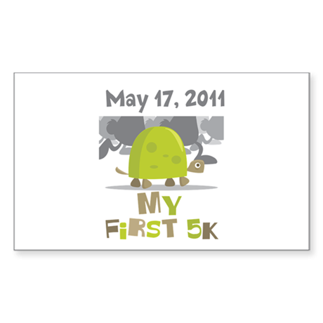 Personalized My First 5K Sticker (Rectangle)
