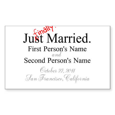 Finally Married Rectangle Sticker