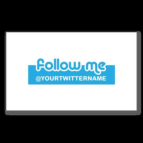 Personalizable Twitter Follow Sticker (Rectangle)