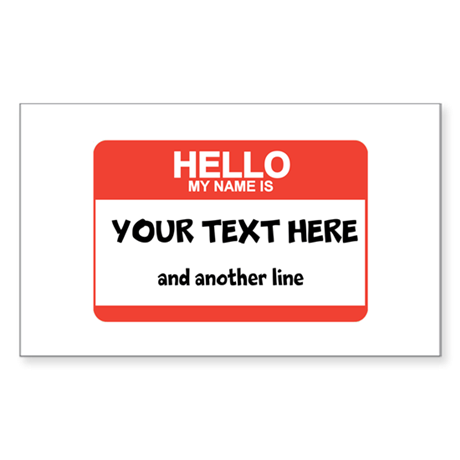 HELLO Sticker (Rectangle)