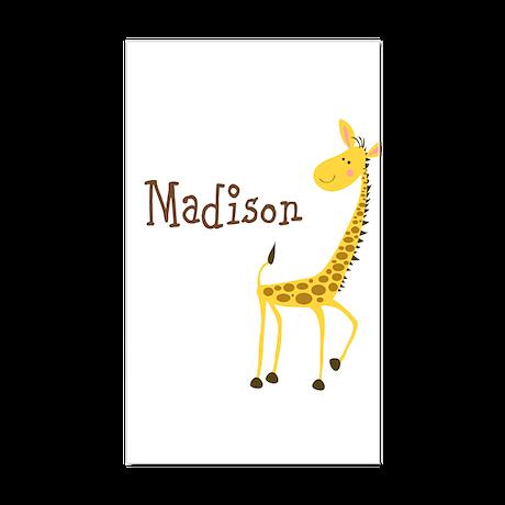 Custom Name Giraffe Sticker (Rectangle)
