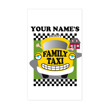 Personalized Family Taxi Sticker (Rectangle)