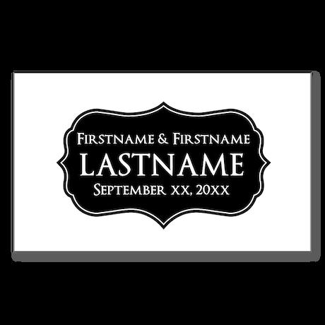 Personalized Wedding Nameplat Sticker (Rectangle)