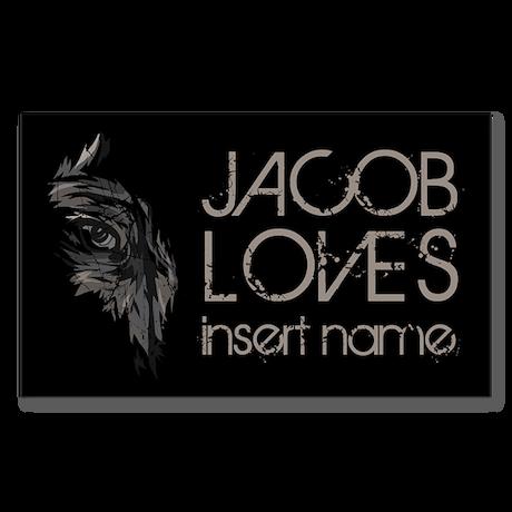 Jacob Loves Sticker (Rectangle)