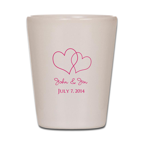custom wedding favor shot glass by fashionstinks