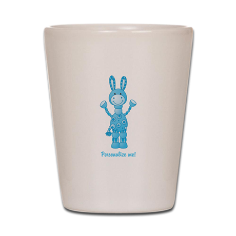 Personalize me! Blue Donkey Shot Glass