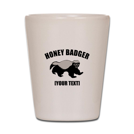 Honey Badger Custom Shot Glass