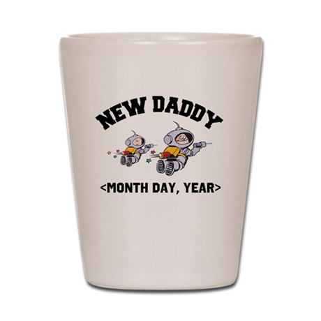 Personalized New Daddy Shot Glass