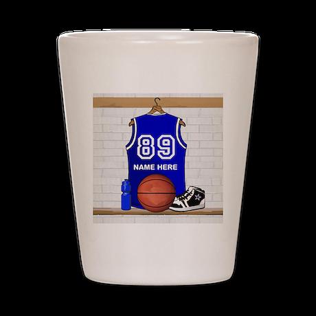 Personalized Basketball Jerse Shot Glass