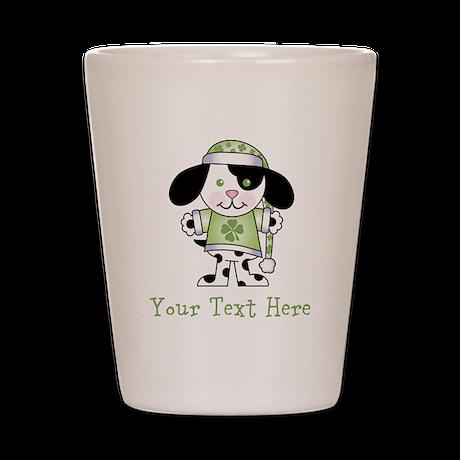 Personalized Irish Puppy Shot Glass