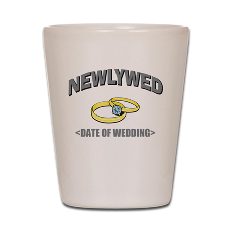 Newlywed (Add Date of Wedding) Shot Glass