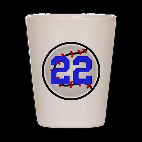 BB/SB Number Shot Glass