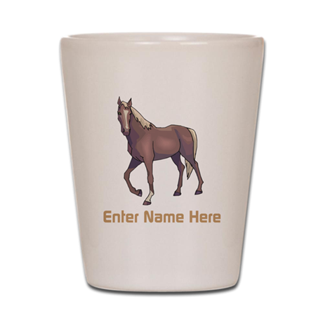 Personalized Horse Shot Glass
