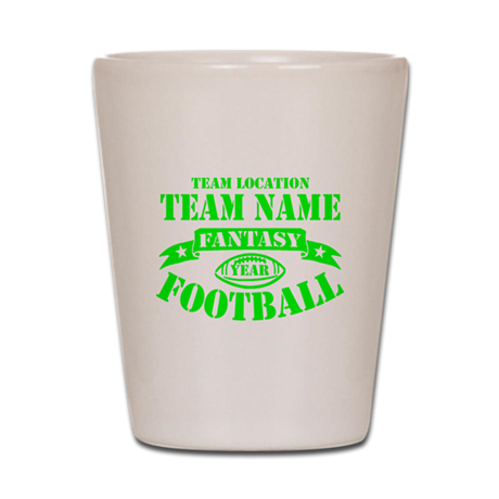 PERSONALIZED FANTASY FOOTBALL LIME Shot Glass