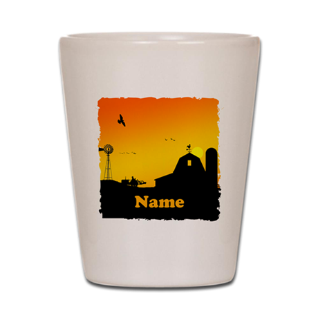 Sunrise at the Farm Shot Glass