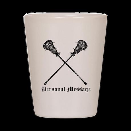 Personalized Lacrosse Sticks Shot Glass