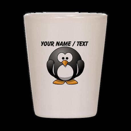 Custom Cartoon Penguin Shot Glass