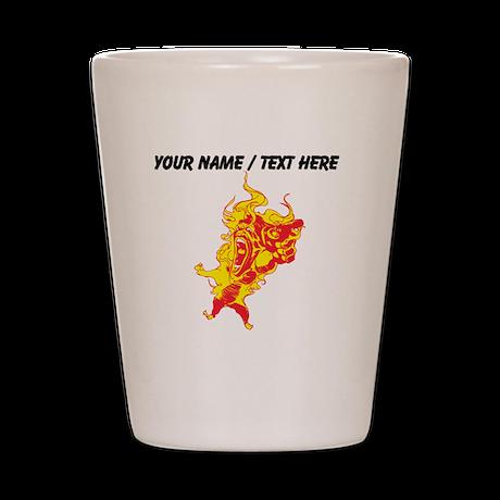 Custom Fire Mascot Shot Glass