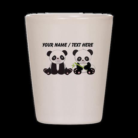 Custom Cute Pandas Shot Glass