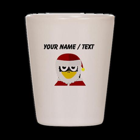 Custom Santa Clause Penguin Shot Glass