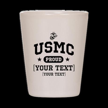 PERSONALIZE USMC Family Shot Glass