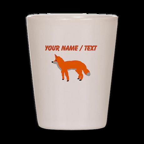 Custom Orange Fox Pup Shot Glass