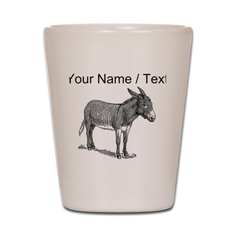 Custom Mule Sketch Shot Glass