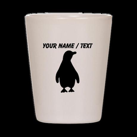 Custom Penguin Silhouette Shot Glass