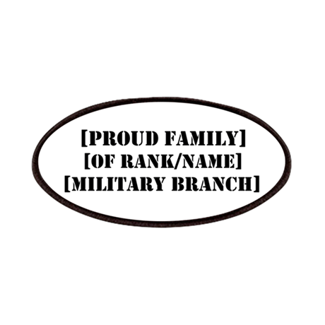 PERSONALIZED Military Family Patches