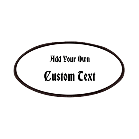 Black Custom Text Patches