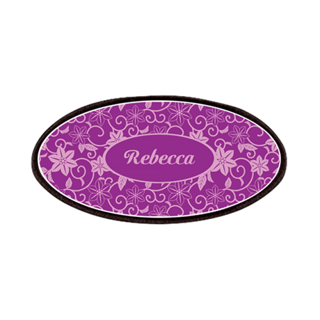 Personalized Purple and plum colored Floral patter
